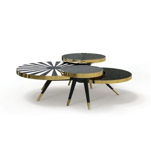 "HOMMÉS STUDIO'S ""Arcadia"" table is a balanced blend of Art Deco syle re-interpreted with modern materials. hommes.studio"