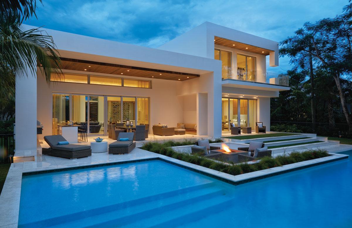 Tropical Inspiration Wraps Modern Naples Home - Florida Design