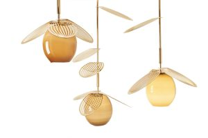 "Gold tones, brass and glass influence ""Jasmin"" pendant lighting by mydriaz. mydriaz-paris.com"