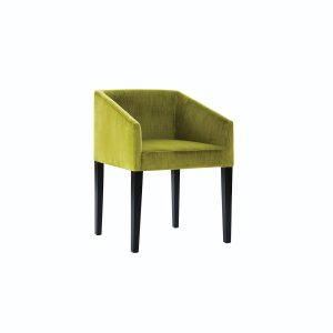 "Sitting pretty, the simple yet dramatic ""Martini"" chair by nathan anthony features a tailored low back, sharply angled arms and slim legs. nafurniture.com"