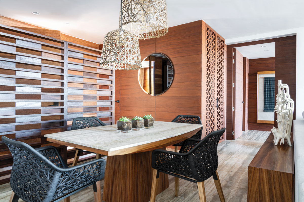 Designed by UribeKrayer, the guest rooms feature Mexican stone and wood, and handcrafts from Oaxaca, Jalisco, Yucatán and Mexico City.