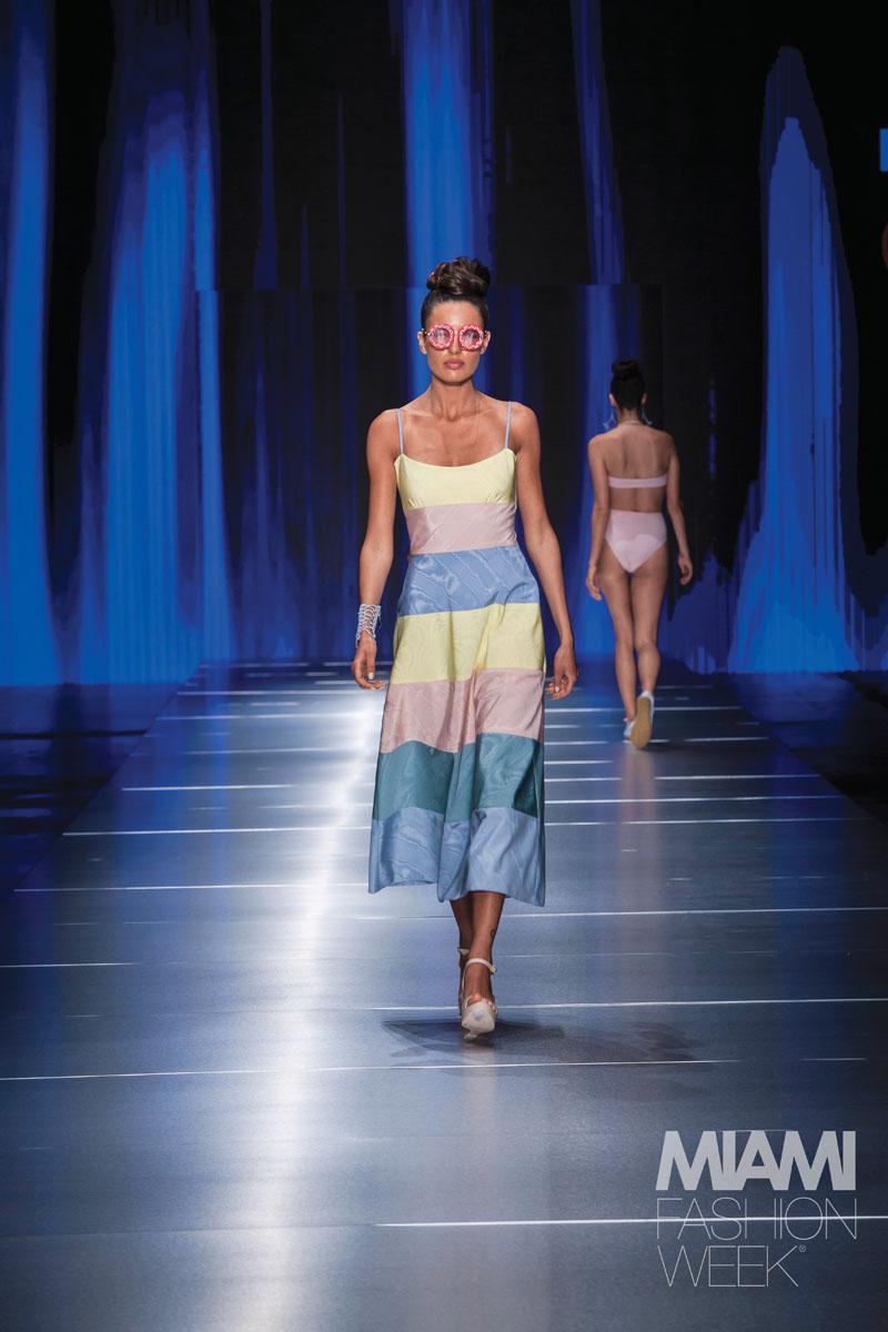 Ruiz's resort collection hit the runway during Miami Fashion Week.